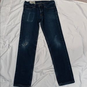 Hollister button-fly distressed jeans size 30x32